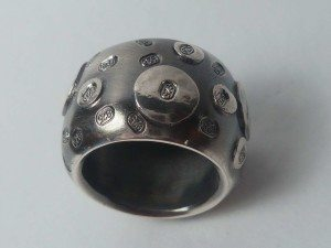 Sterling silver ring handmade by a student in the Beginners Jewellery making class