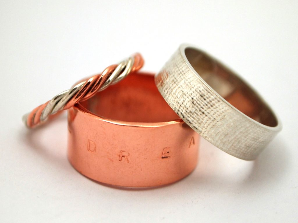 Copper and Silver rings