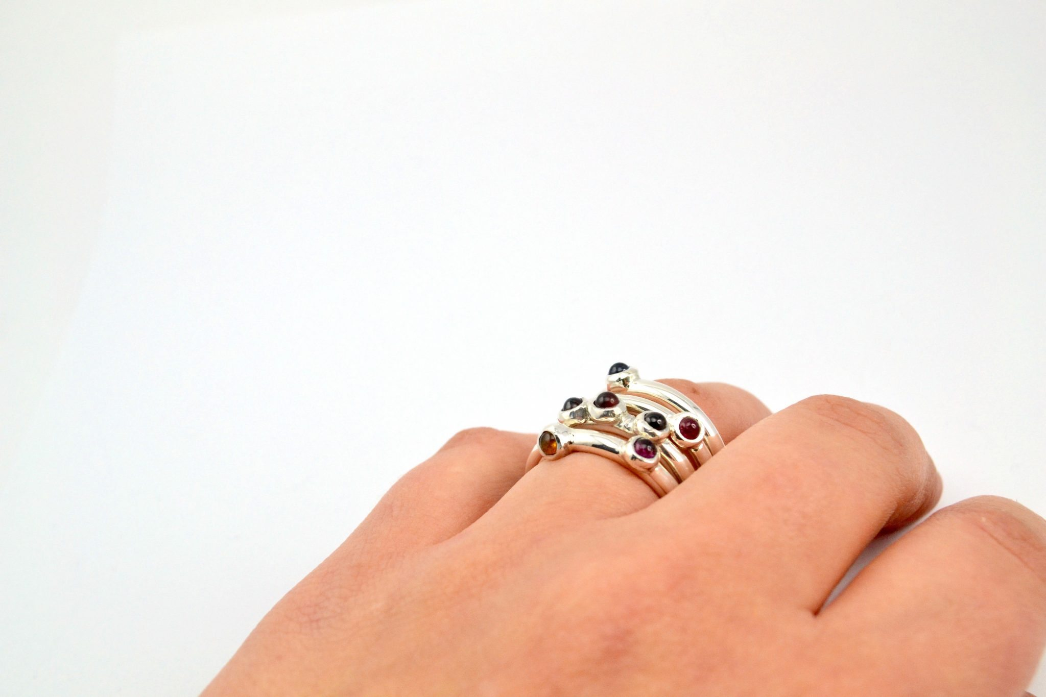 Silver stack rings made in Jewellery Making Atelier
