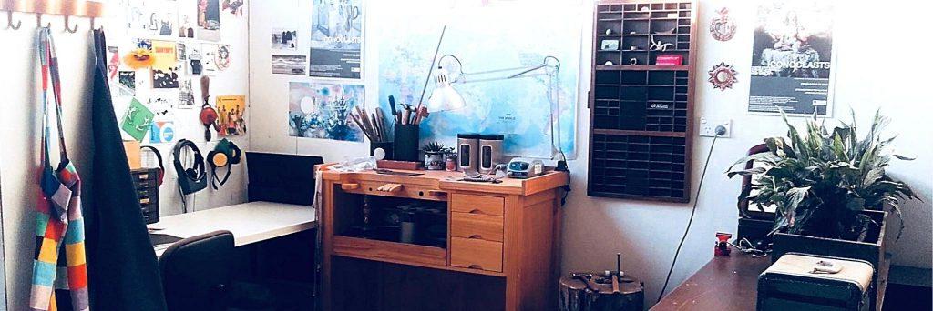 View of jewellers studio space