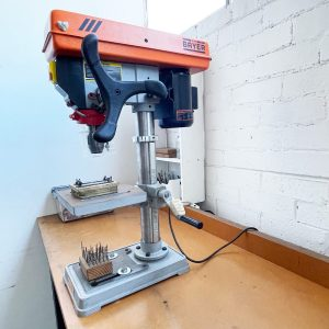 Workbench with drillpress