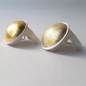 Cufflinks created by a Winter Warmer Workshop student