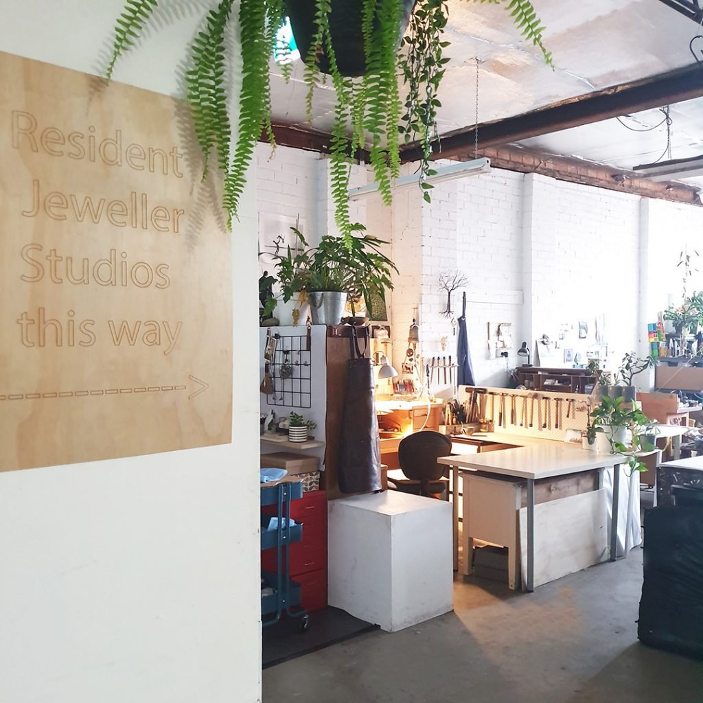 View of Artist studios at SquarePeg