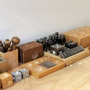 A selection of forming tools in our hammer room
